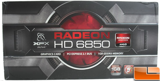 XFX Radeon HD 6850 Video Card Box front