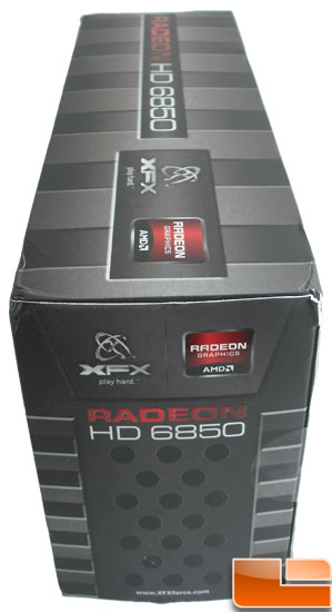 XFX Radeon HD 6850 Video Card Box Side2