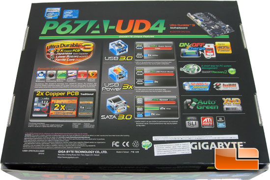 GIGABYTE P67A-UD4 Motherboard Retail Packaging