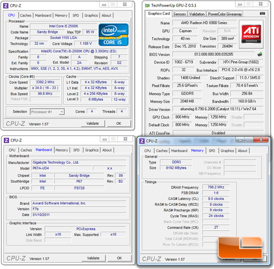 GIGABYTE P67A-UD4 System Settings