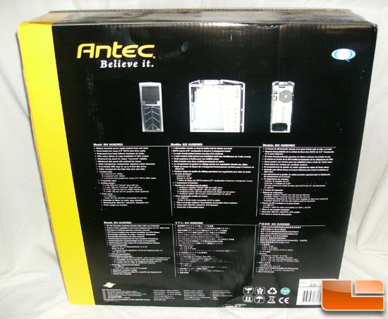 Antec 600 v2 Gaming Case Box Back