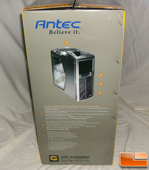 Antec 600 v2 Gaming Case Box Side