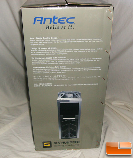 Antec 600 v2 Gaming Case Box Side 2