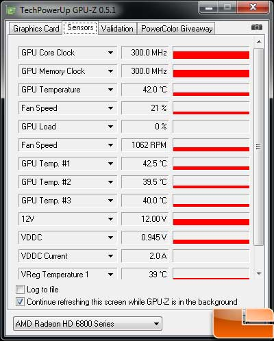 Sapphire Radeon HD 6850 Toxic Video Card Idle Temp