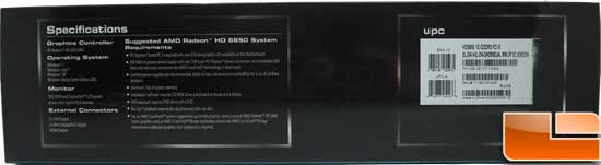 Sapphire Radeon HD 6850 Toxic Video Card Box Bottom