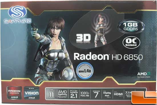 Sapphire Radeon HD 6850 Toxic Video Card Box front