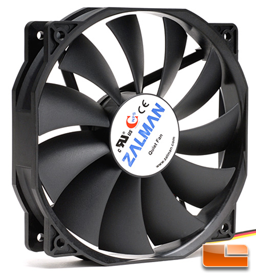 Zalman ZM-F4 135mm Multipurpose Fan Side View