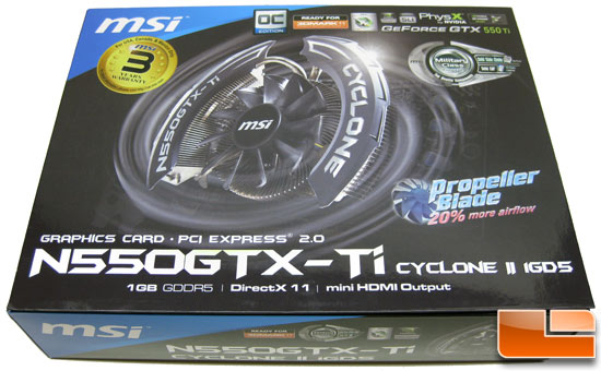 MSI N550GTX-Ti Cyclone OC Video Card Retail Box Front