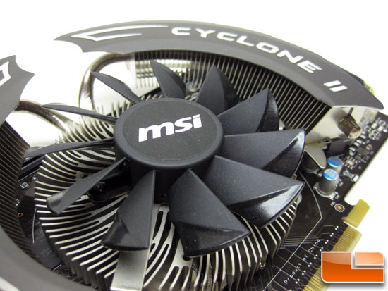 MSI N550GTX-Ti Cyclone II OC Video Card Fan