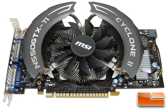 MSI N550GTX-Ti Cyclone II OC Video Card Front