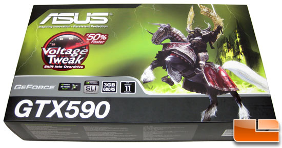 ASUS GeForce GTX590 Video Card Retail Box Front