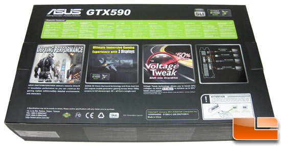 ASUS GeForce GTX590 Video Card Retail Box Back