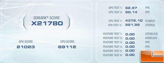 ASUS GeForce GTX590 Video Card Vantage Overclocked