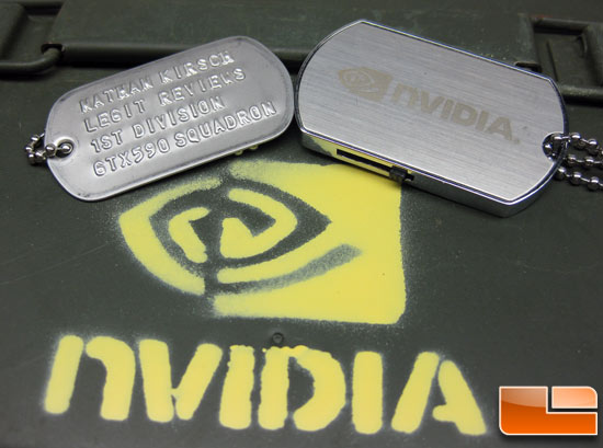 NVIDIA Legit Reviews Dog Tag