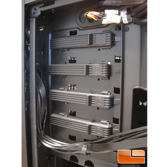 Thermaltake Level 10 GT Full Tower left side of the drive bays