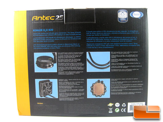 Antec Kuhler H2O 620 box back