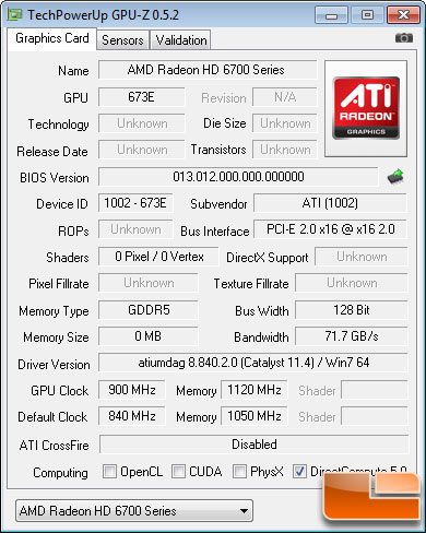 AMD Radeon HD 6790 Video Card Overclocking