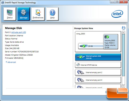 Intel RST Acceleration