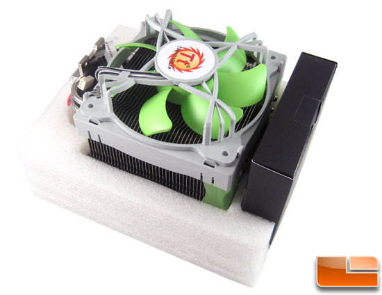 Thermaltake Jing CPU Cooler cradeled in foam