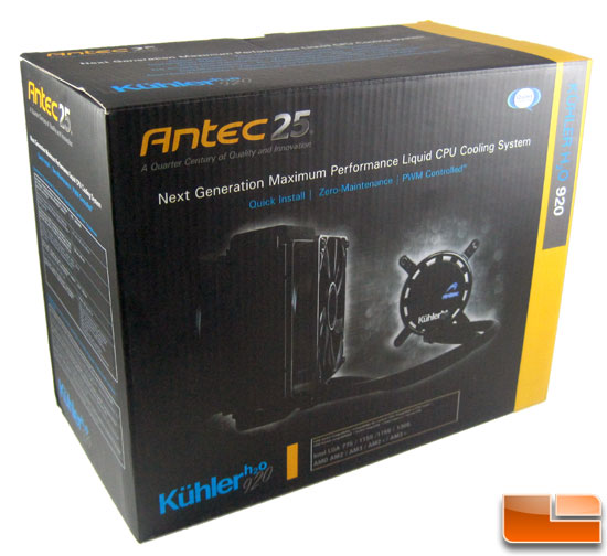 Antec Kuhler H20 920 CPU Water Cooler Review