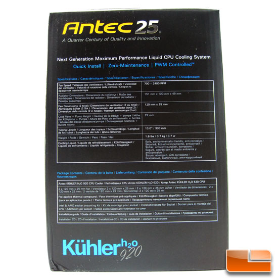 Antec Kuhler H2O 920 box end