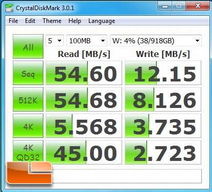 Netgear ReadyNas Ultra 2 Plus CrystalMark 100MB