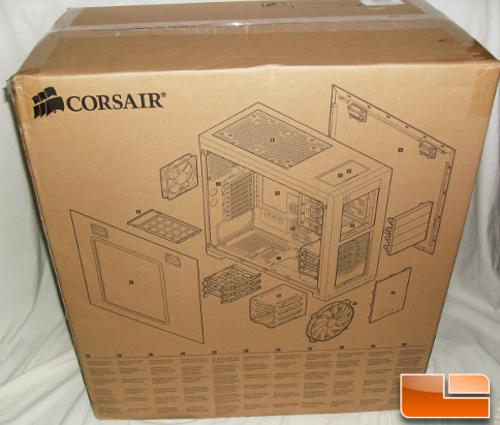 Corsair Obsidian Series 650D Box Backside