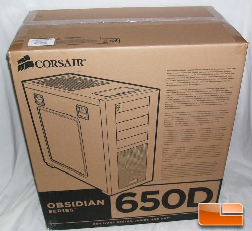 Corsair Obsidian Series 650D Mid-Tower Box Front