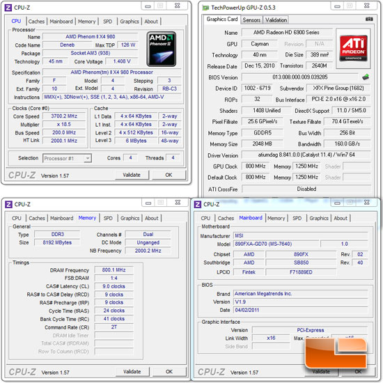 AMD Phenom II X4 980 Black Edition Test Settings