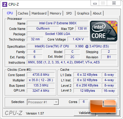 Intel Core i7 990X Extreme Edition Processor Manual Voltage Overclocking