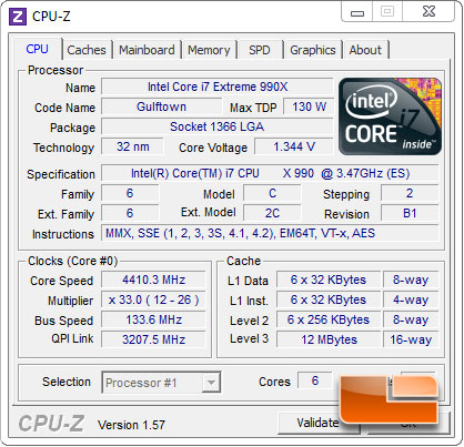 Intel Core i7 990X Extreme Edition Processor Auto Voltage Overclocking