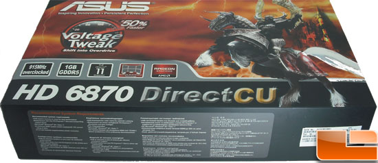 Asus Radeon HD 6870 Video Card Box   Bottom