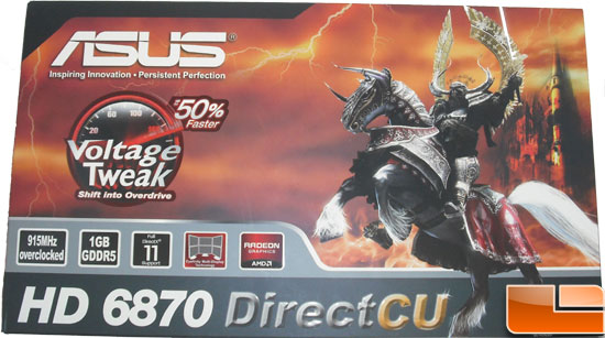 Asus Radeon HD 6870 Video Card Box   Front