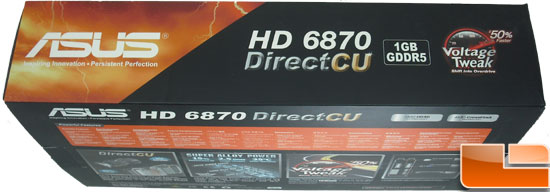 Asus Radeon HD 6870 Video Card Box Top