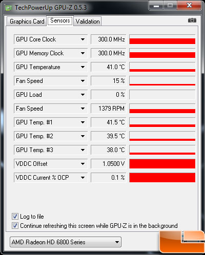 Asus Radeon HD 6870 Video Card Idle Temp