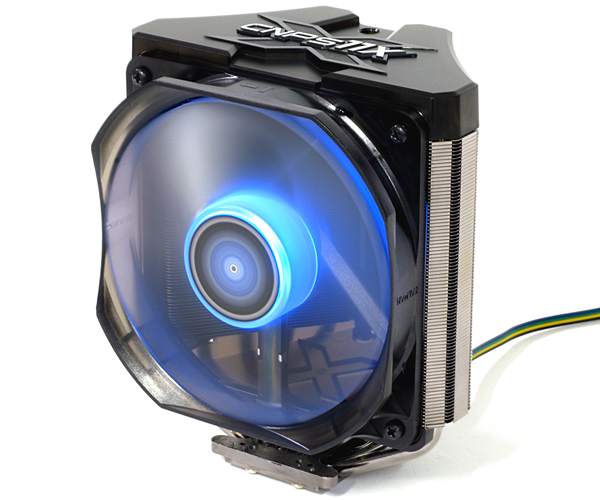 Zalman CNPS11X CPU Cooler powered up
