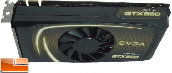 EVGA GeForce GTX 560 SC Video Card Top