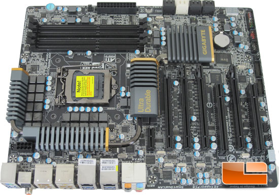 GIGABYTE P67A-UD7-B3 Motherboard Layout