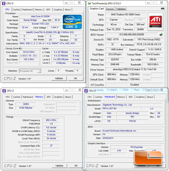 GIGABYTE P67A-UD7-B3 Motherboard System Settings