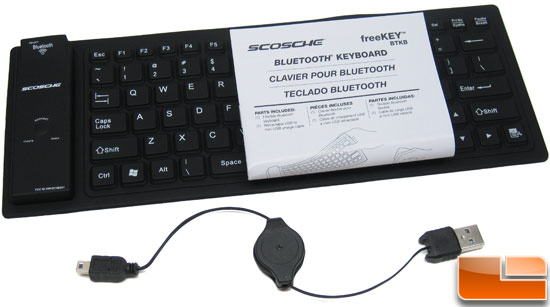 Scosche freeKEY Bluetooth Keyboard Bundle