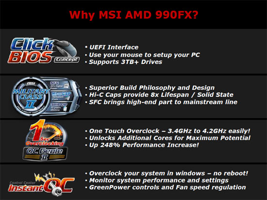 MSI 990FXA-GD80 AMD 990FX AM3+ Changes