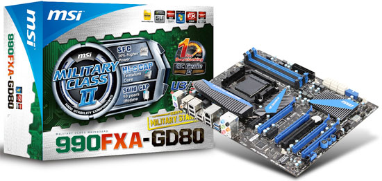 MSI 990FXA-GD80 AMD 990FX Motherboard Performance Review