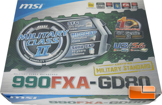 MSI 990FXA-GD80 Motherboard Retail Packaging and Bundle