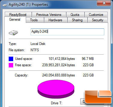 AGILITY 3 240GB Properties