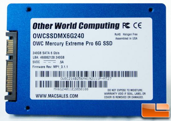 OWC Mercury EXTREME Pro 6G 240GB CONTENTS