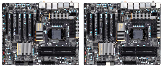 GIGABYTE Z68X-UD7-B3 compared to the P67A-UD7-B3