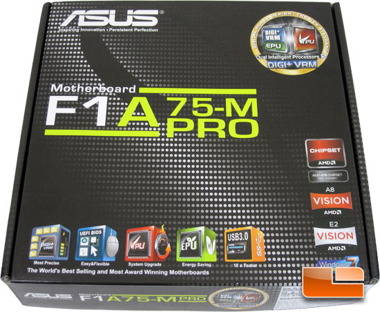 ASUS F1A75-M Pro APU Motherboard Retail Packaging and Bundle