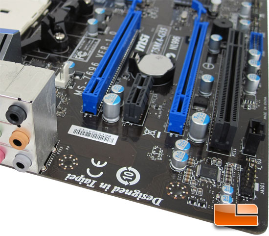 MSI A75MA-G55 AMD APU Motherboard Layout