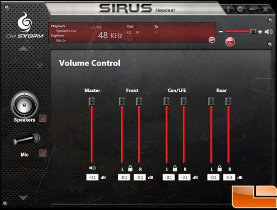 Cooler Master Storm Sirus 5.1 Headset Software