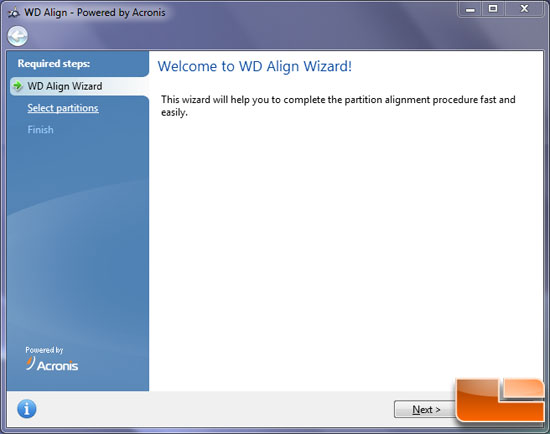 WD Advanced Format Drive Alignment Utility